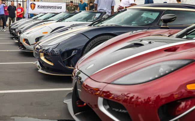 Row of Koenigseggs