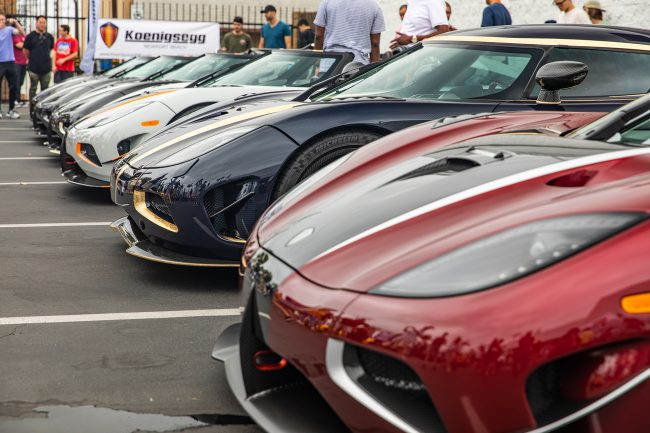 Row of Koenigseggs